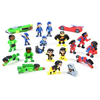 Toys & Games Tidlo Wooden Superhero Mini Figure Pack Playset Accessories