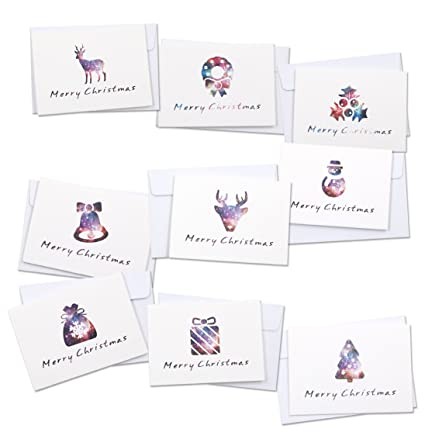 Amazon merry christmas greeting cards alxcd 18 pcs foldable merry christmas greeting cards alxcd 18 pcs foldable small size 3375quot 2375quot m4hsunfo