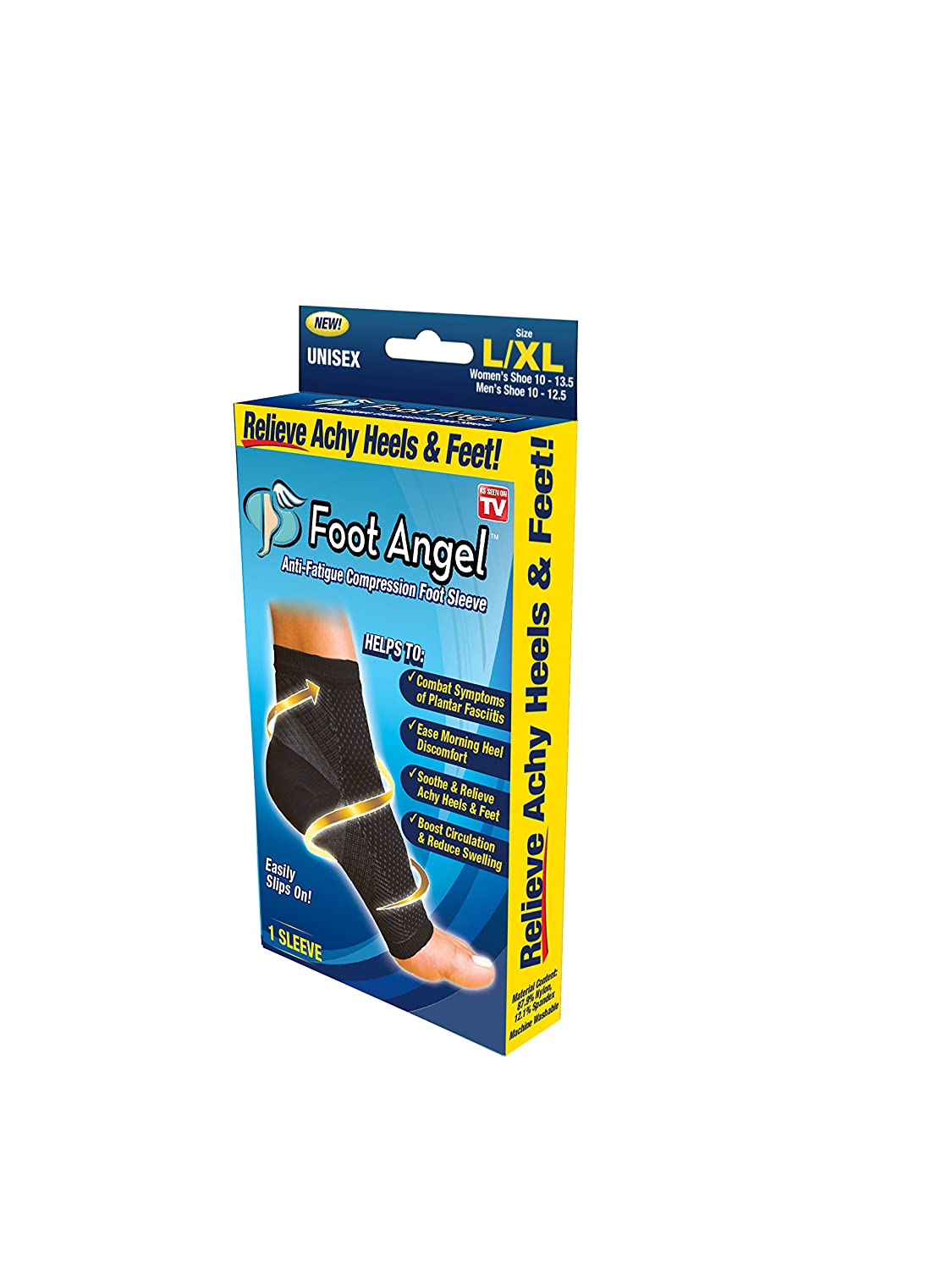 Amazon.com: Foot Angel Anti-Fatigue Compression Foot Sleeve for Plantar Fasciitis Relief: Health & Personal Care
