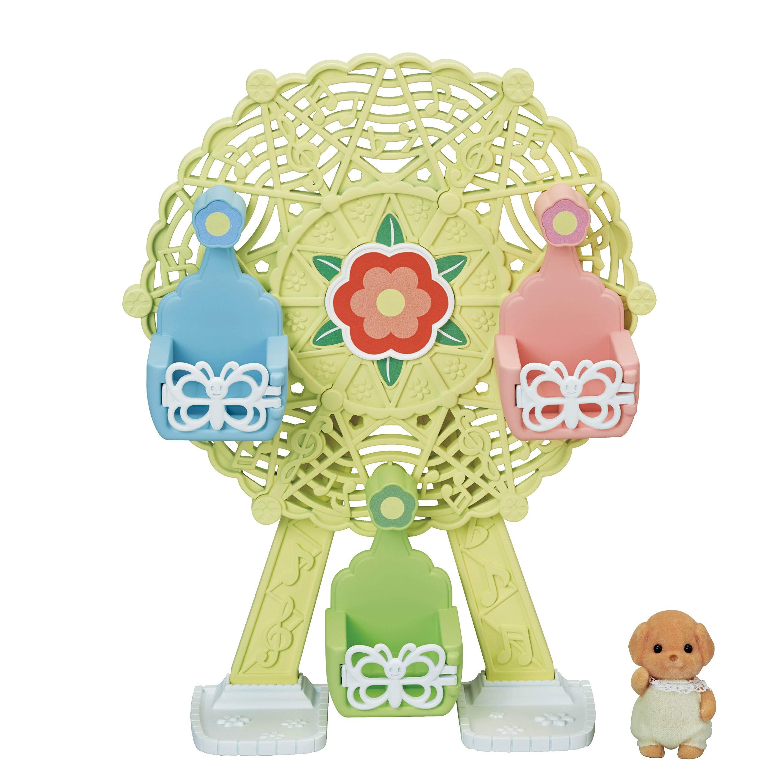 Calico Critters Baby Ferris Wheel, Dollhouse Playset with Toy Poodle Figure Included
