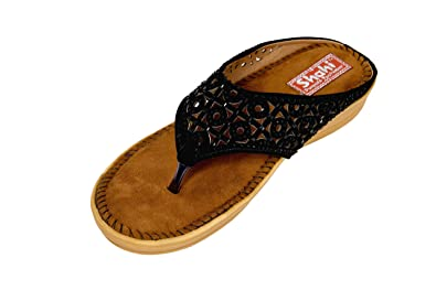 ecad3779d231cf SHAHI Doctor Sole Orthopedic Slippers for Women  Buy Online at Low Prices  in India - Amazon.in