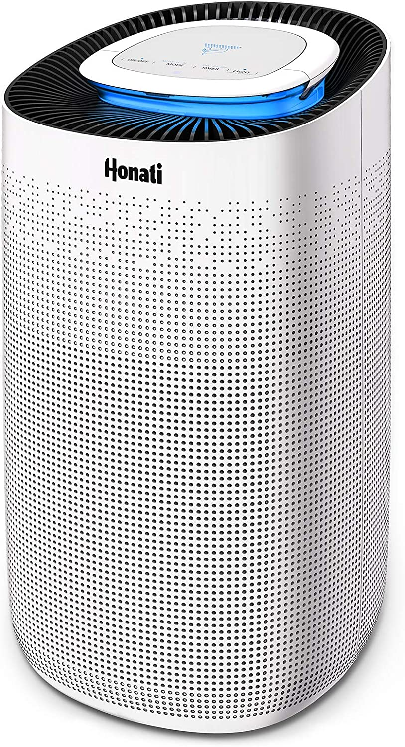 Honati Air Purifier for Home,True HEPA Filter for Large Room,Quiet Bedroom Air Cleaner for Smoke, Dust, Mold, Pollen,Odors, Allergies and Pet Hair