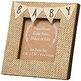 Kate Aspen Rustic Baby Burlap Frame, Beige