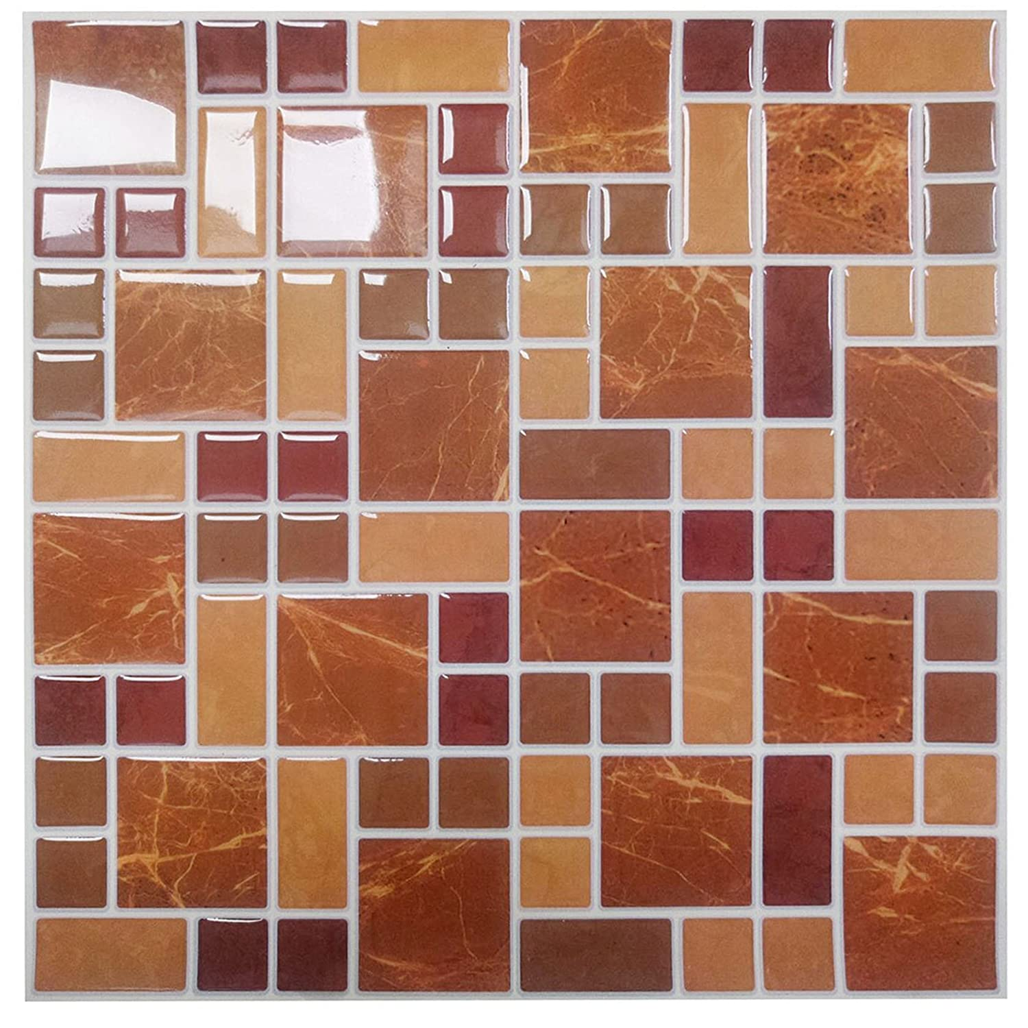 Remarkable Premium Anti-mold Peel and Stick Wall Tiles in Remarkabel Vinyl(10 tiles)