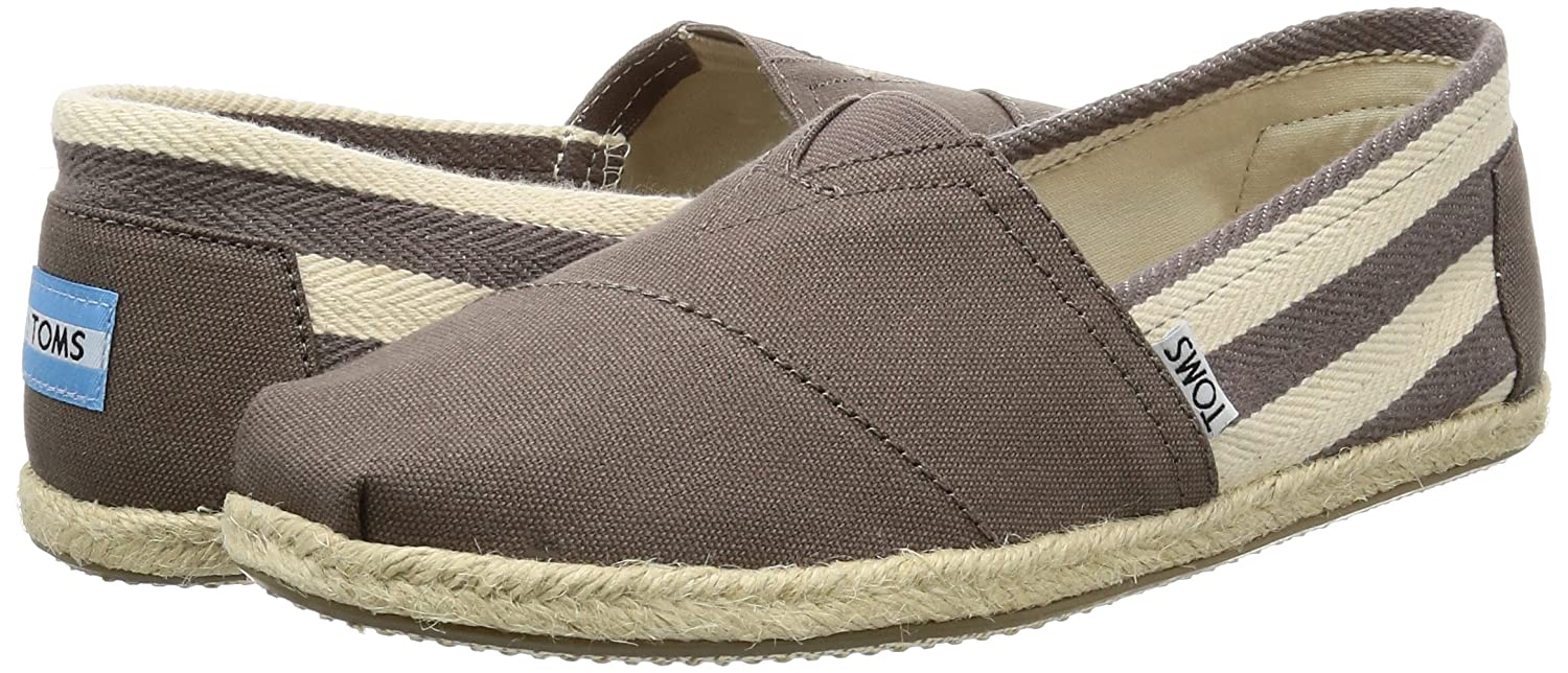 Amazon.com | TOMS - Men Slip-On Shoes, Size: 8.5 D(M) US, Color: Dark Grey Stripe University | Loafers & Slip-Ons