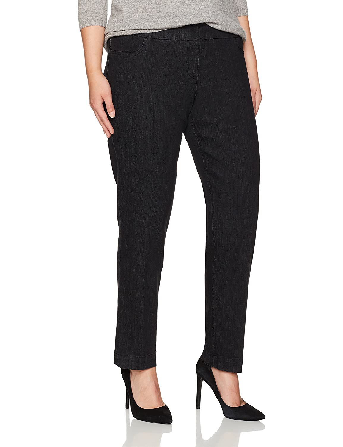 d4f980c1987 SLIM-SATION Women s Plus-Size Pull-On Straight-Leg Pant at Amazon Women s  Clothing store