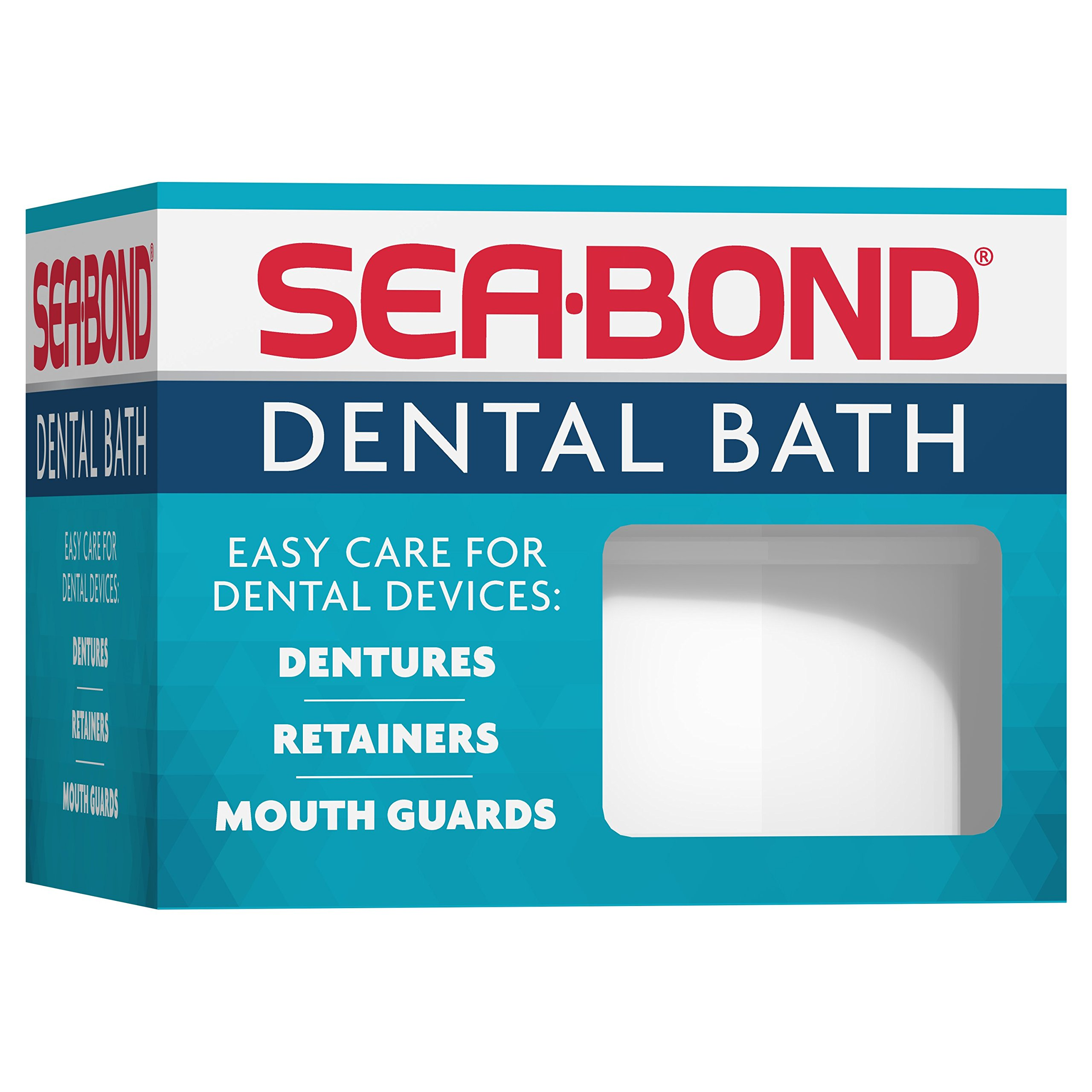 Sea Bond Daily Cleaning Denture, Mouthguard, and Retainer Bath