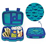 Bentgo Kids Prints (Sharks) - Leak-Proof, 5-Compartment Bento-Style Kids Lunch Box - Ideal Portion Sizes for Ages 3 to 7…