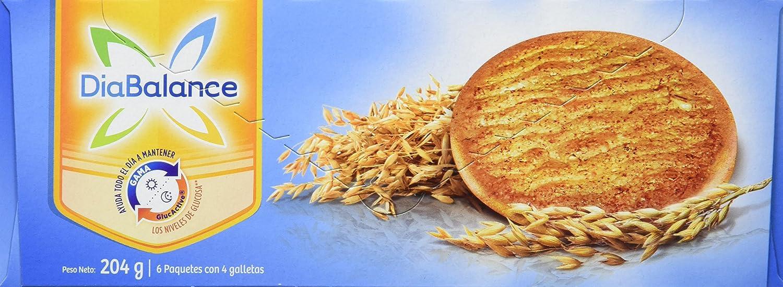 DiaBalance Galleta Digestive Avena - Paquete de 12 Cajas de Galletas de 204 gr - Total: 2.448 kg: Amazon.es: Alimentación y bebidas