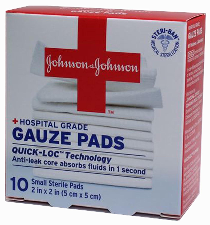 Amazoncom Johnson Johnson First Aid Gauze Pads 2 X 2 Inch 10
