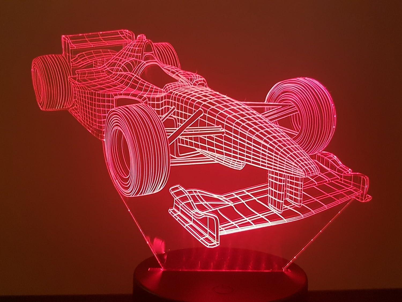 Lampe 3D Motif: Voiture Formule 1