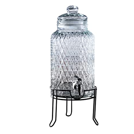 fb3b97e3dcd Image Unavailable. Image not available for. Color  Style Setter 210164-GB  1.5 Gallon Glass Beverage Drink Dispenser with Metal Stand ...