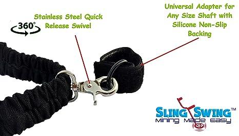Sling columpio metal detactor Arnés & # x272 a; similar a MINELAB pro-swing 45, fácil de Swing, LimbSaver, Limbo Saver, detectorpro & # x272 a; funciona con ...
