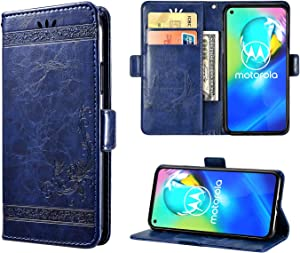 Case for Moto G Power, Designed for Moto G Power Wallet Case with Card Slots, Folding Stand Protective Cover for Moto G Power. (Blue, 6.4'')
