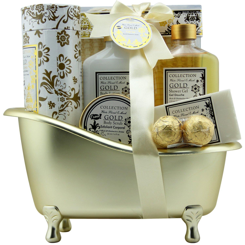 Bath - Gold - Rosa - 8 pezzi - scatola regalo, regalo per le donne Universal Beauty Market FD7D018 PINK