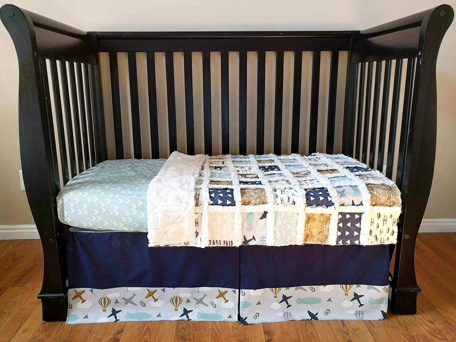 Image of Airplane Crib Set Home and Kitchen