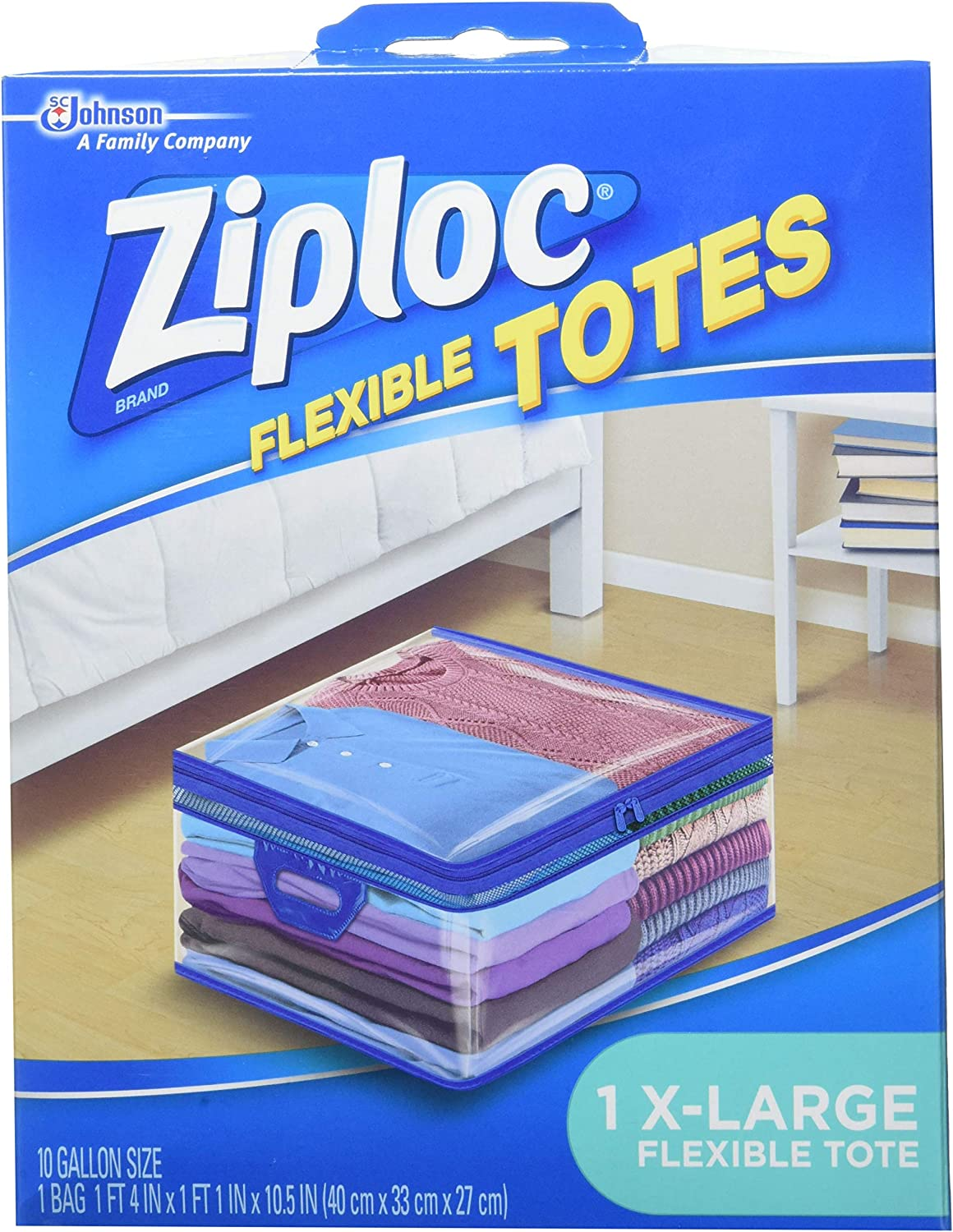 Ziploc Storage Bags for Clothes, Flexible Totes for Easy and Convenient Storage, 1 XL Bag, Pack of 4 (4 Total Bags): Health & Personal Care