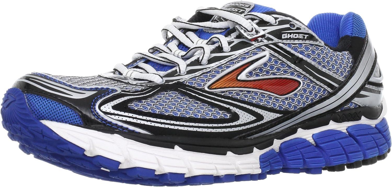 Brooks Ghost - Zapatillas de Running para Hombre, tamaño 41 EU / 7 UK, Color Azul/Negro/Silver/Rojo: Amazon.es: Zapatos y complementos