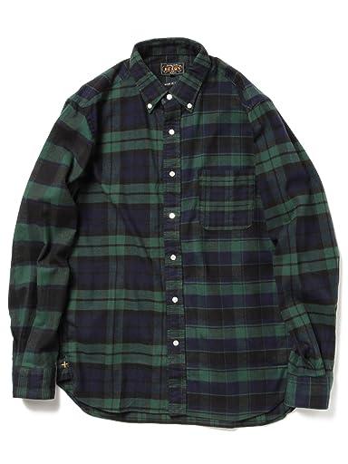 Crazy Check Buttondown Shirt 11-11-3458-139: Black Watch