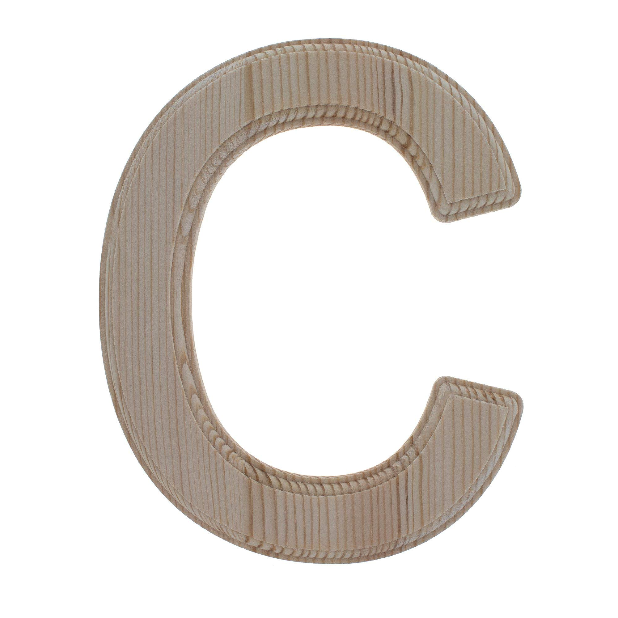 BestPysanky Unfinished Wooden Letter C (6.25 Inches)