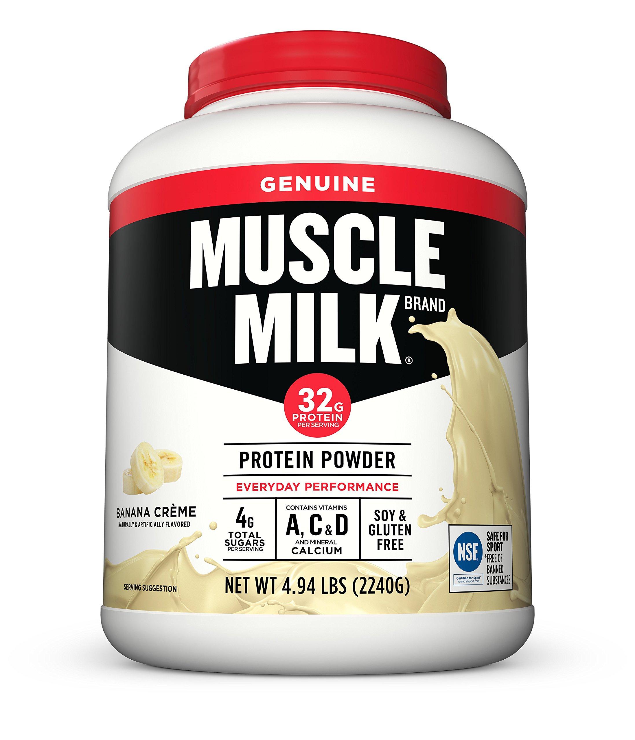 Muscle Milk Genuine Protein Powder, Banana Crème, 32g Protein, 4.94 Pound by CytoSport