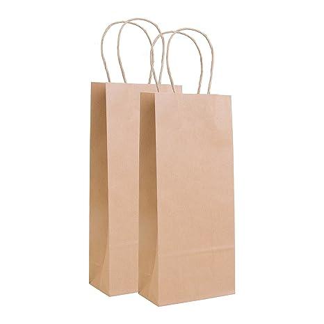 Amazon.com: Increíble empaque: bolsa de vino Kraft de 5.5 x ...