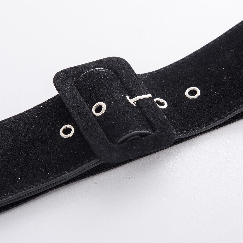 Bellissimo teschio da donna vintage 2.36 pollici cintura ampia cintura estensibile GF751