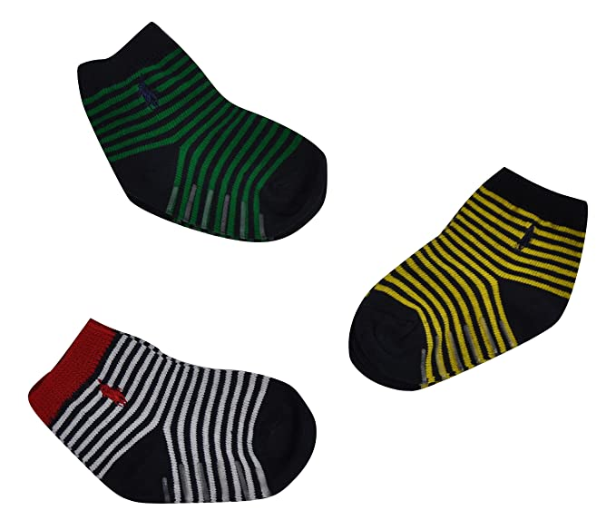 Ralph Lauren - Calcetines - para bebé niño giallo/bianco/verde Talla única