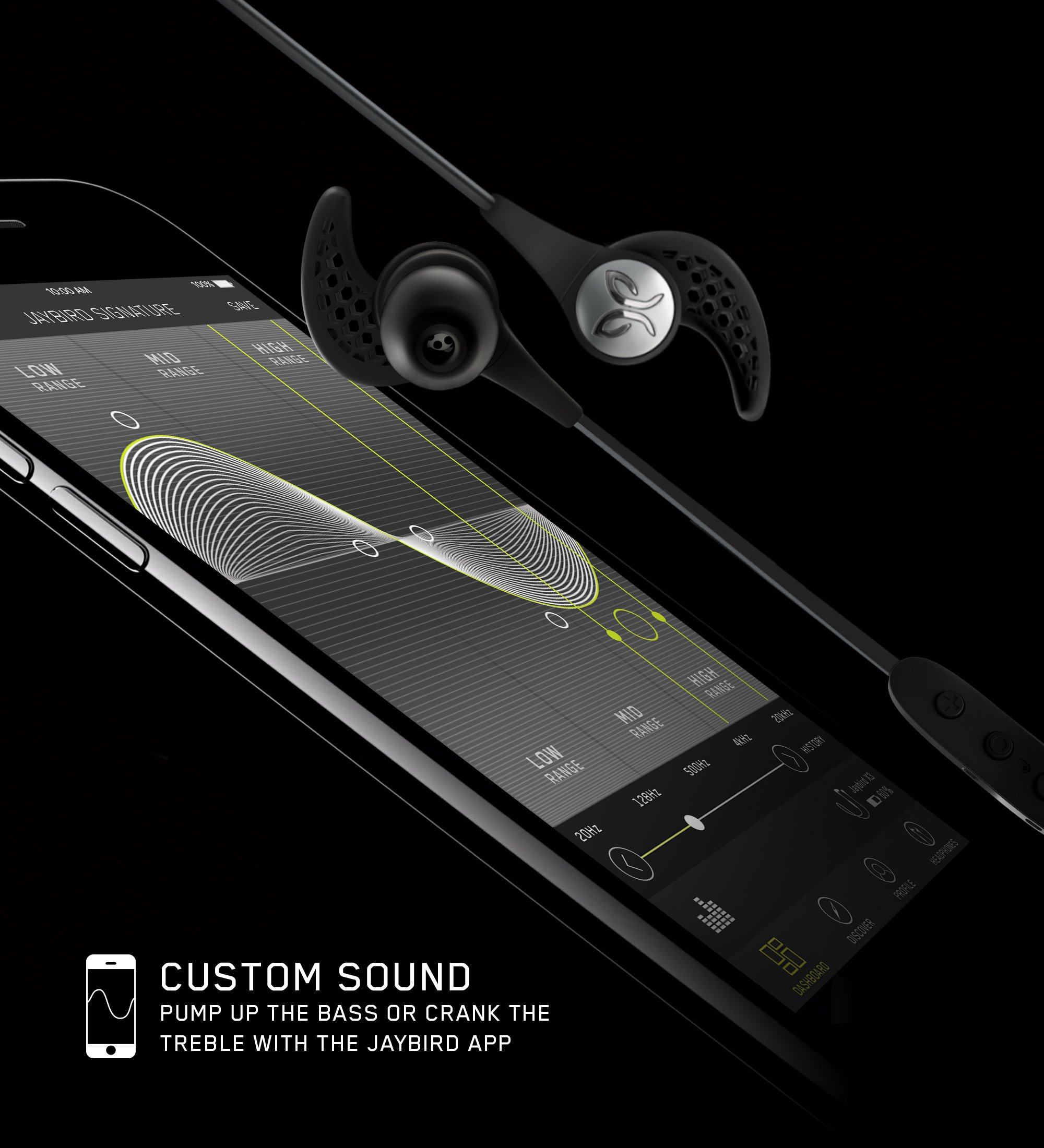 Jaybird X3 In-Ear Wireless Bluetooth Sports Headphones – Sweat-Proof – Universal Fit – 8 Hours Battery Life – Alpha by Jaybird (Image #3)