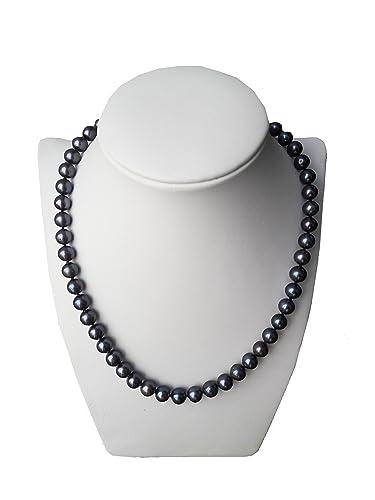 nuovo arrivo 50ecd 9d029 Collana con perle nere di acqua dolce: Amazon.it: Handmade