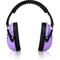 HearTek Kids Earmuffs Hearing Protection with Travel Bag- Junior Ear Defenders for Children, Padded Baby Ear Protection, Infants, Small Adults, Women - Adjustable Protector Noise Reduction Ear Muffs, Lavender