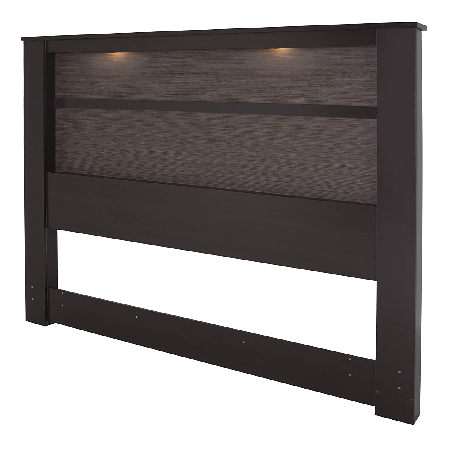 Amazon.com: South Shore Gloria King Headboard With Lights, 78 Inch,  Chocolate And Zebrano: Kitchen U0026 Dining