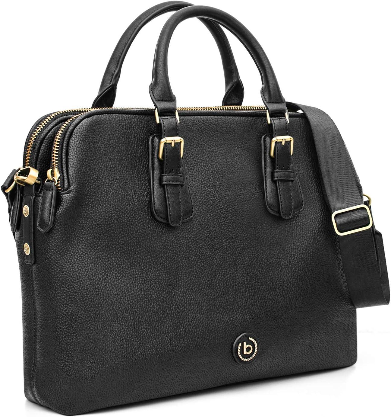 Bugatti Passione Aktentasche Damen aus Kunstleder mit Laptopfach – Businesstasche Damen Laptoptasche – Bürotasche Lehrertasche in Schwarz: Amazon.de: Koffer - Arbeitstasche Damen