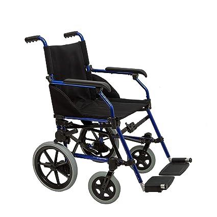 """17"""" Silla de ruedas attendant-propulsado plegable y fácil de usar, para el"""
