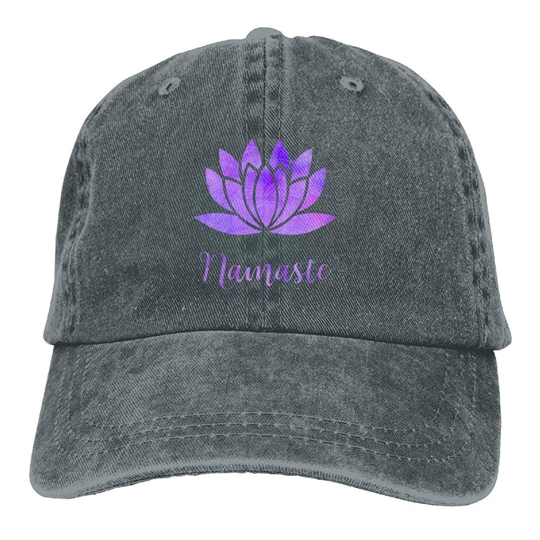 JTRVW Arsmt Namaste with Lotus Flower Denim Hat Adjustable Unisex Dad Baseball Hats