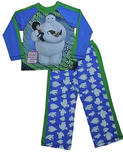 Disney Pixar Big Hero 6 Pijamas Baymax PJs 4 a 8 años W15 Azul Azul 5