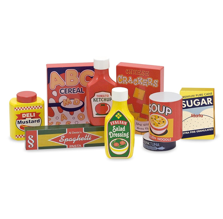 Melissa & Doug Wooden Pantry Products Play Food Set (9 pcs) 4077