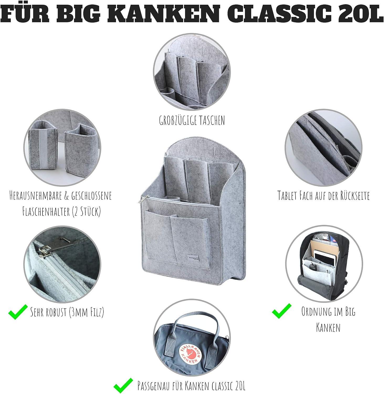 Mini 7L /& Classic 16L /& 15 Classic I accesorios Kanken Azul azul F/ür 16L Classic Slash Mochila organizador para Fjallraven Kanken