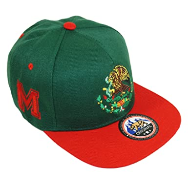 a8aeea1d Mexico Golden Eagle Embroidery Snpaback Hat Adjustable Mexican Flag ...