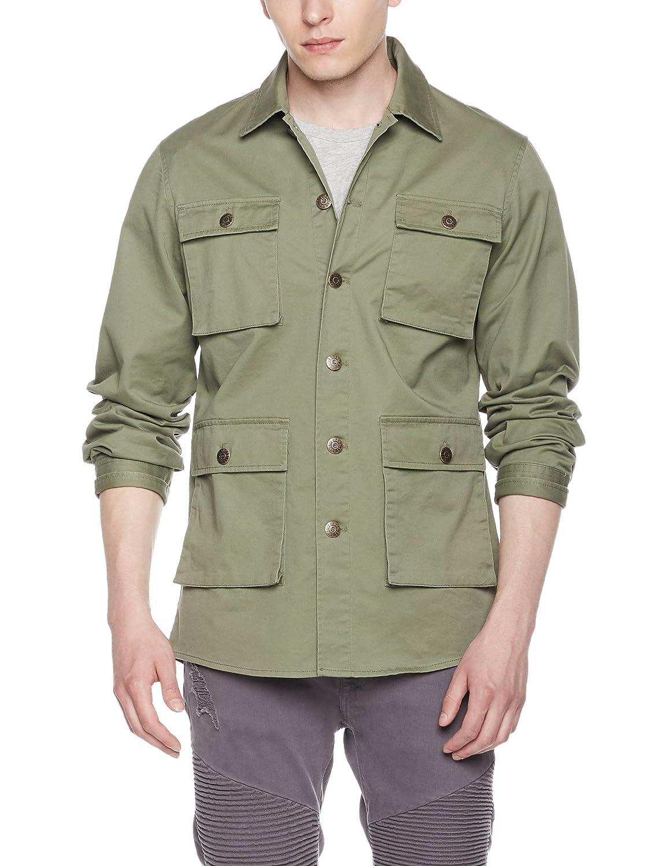 Amazon.com  Quality Durables Co. Men s Stretch Canvas Shirt Jacket  Clothing f602e59df