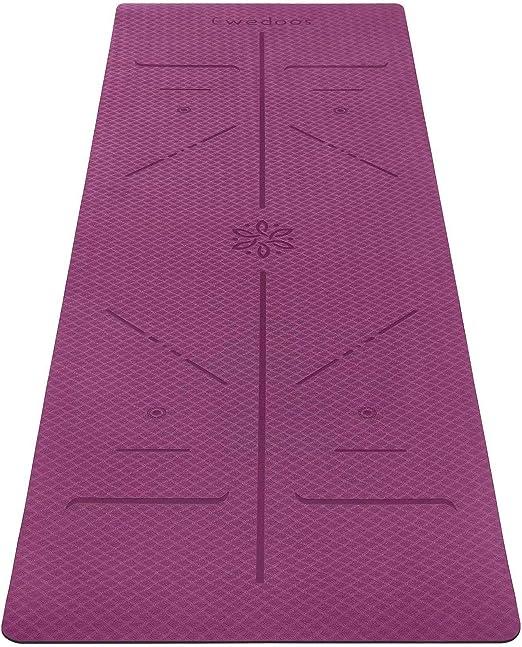 Yoga Mats Wight Alignment Lines