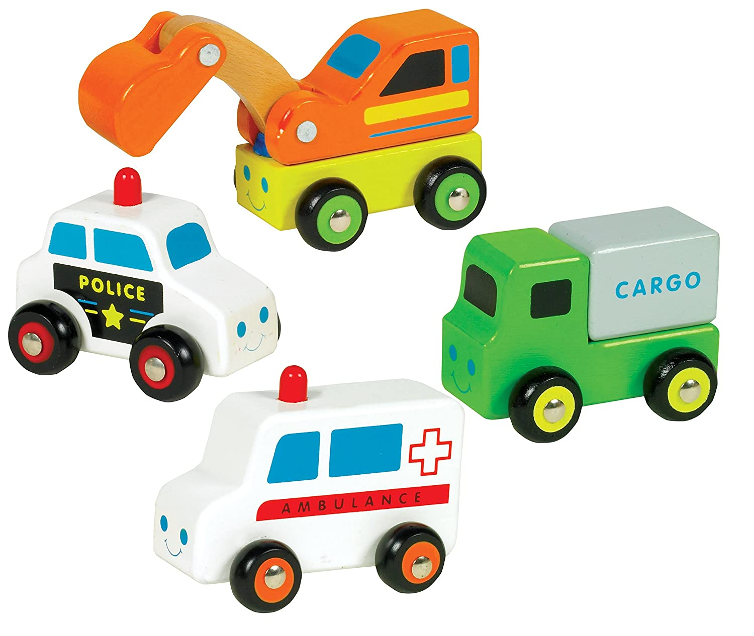 Styles May Vary Orda USA 5459621 Qty 1 pc Ryans Room Small World Toys City Service Wooden Vehicle