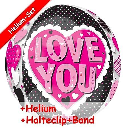 Unbekannt Globo Juego * Love You * + Helium Relleno + Clip ...
