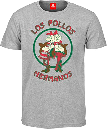 Breaking Bad Camiseta Los Pollos Hermanos grey talla S: Amazon.es: Ropa y accesorios