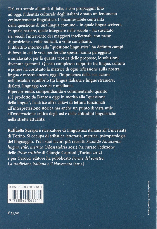 itLa Amazon Questione Della Di Dante Da Testi A LinguaAntologia PO8wkn0
