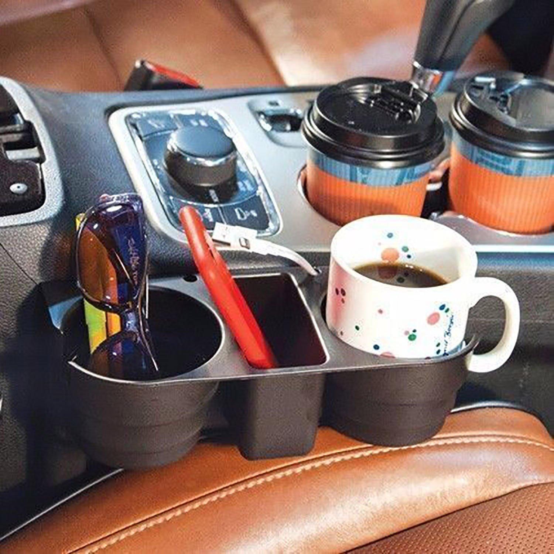 Portable Car Seat Cup 2 Holder Drink Bottle Beverage Coffee Truck Bottle Mount A