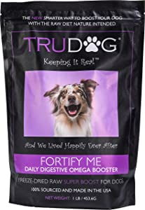 TruDog Fortify Me Omega Dog Food Topper - Freeze-Dried Raw Meal Supplement - 16 oz - Rich in Protein - Includes 9 Superfoods - No Fillers, Preservatives, or Coloring