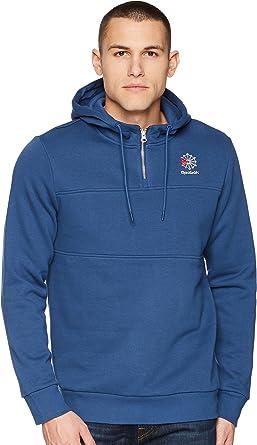 1d69b9a3df Reebok Men's SMU 1/4 Zip Crew Sweatshirt at Amazon Men's Clothing store: