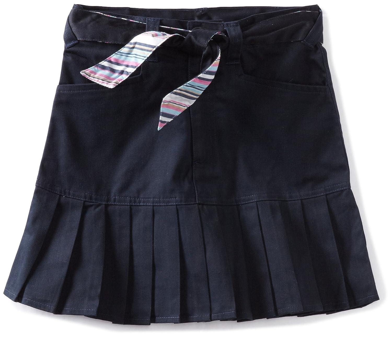 U.S. Polo Association School Uniform Big Girls' Print Belt Twill Scooter Skirt Navy 14 U.S. Polo School Uniform CZ95