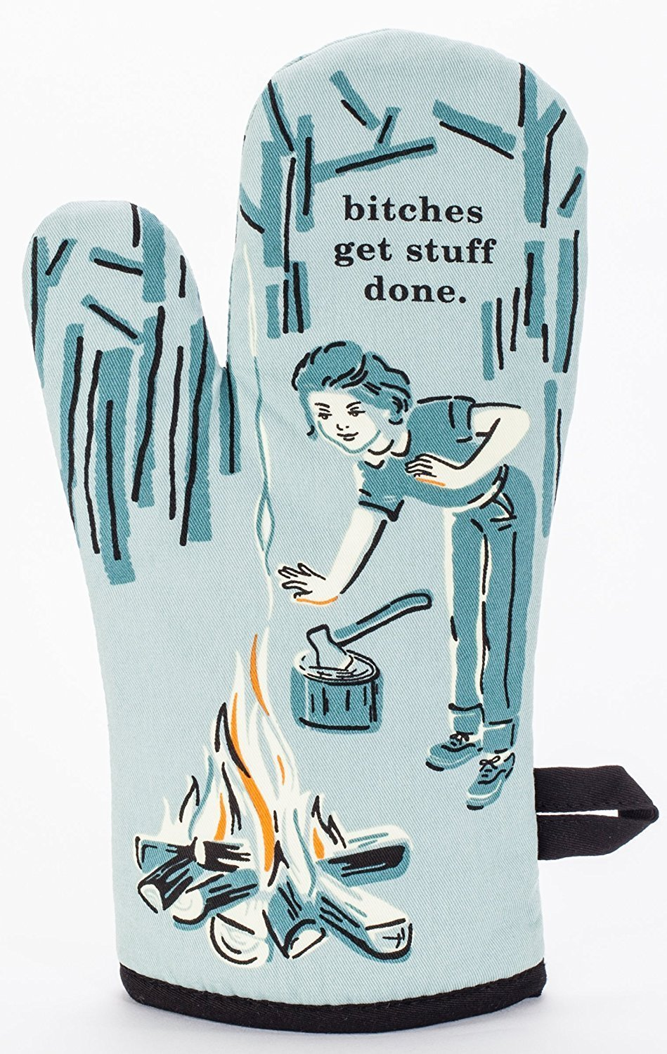 Blue Q Bitches Get Stuff Done Oven Mitt